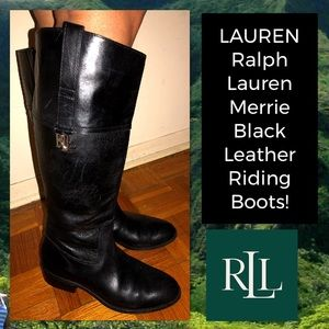 LAUREN Ralph Lauren Merrie Leather Riding Boots!